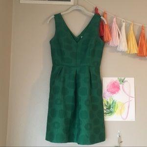 JCrew Green A-Line Dress ✨